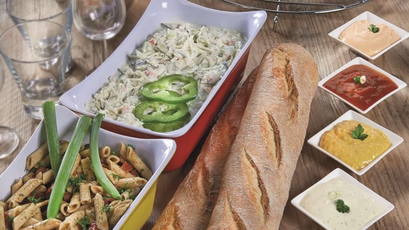 salades brood vlees
