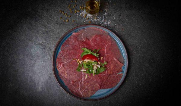 Carpaccio rundvlees vers opgemaakt